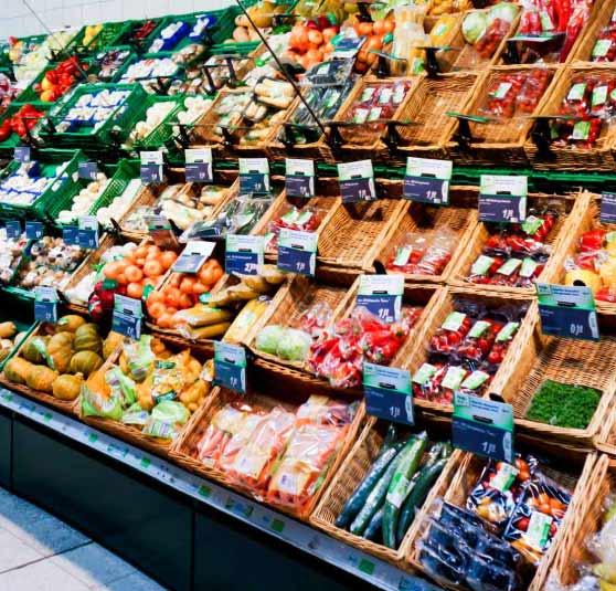 Supermärkte und Einkaufszentren